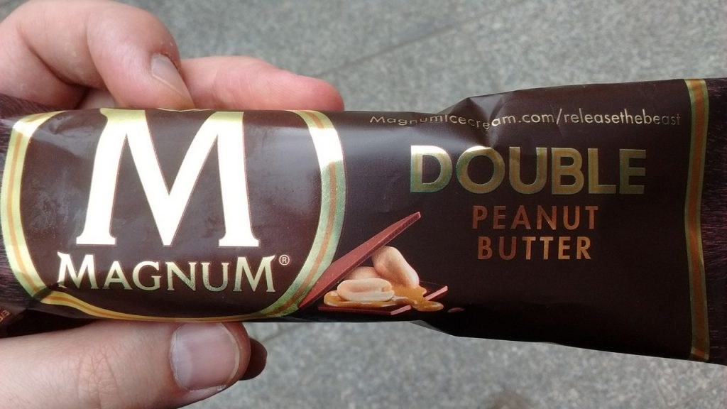 test magnum double peanut butter