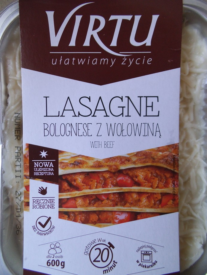 virtu lasagne test