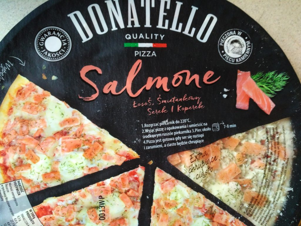 Biedronka pizza Donatello Salmone