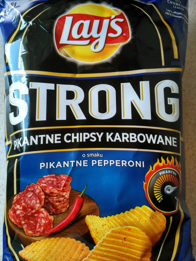 lay's strong pikantne pepperoni test
